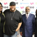 Tamika Stembridge, dfree executive director; Fred Hammond; Reverend DeForest Soaries; Charnelle Anderson, dfree Marketing Director